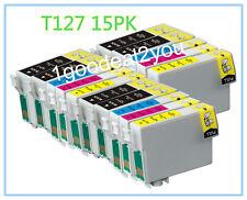 15 x T127 XL Ink cartridge For Epson Workforce 545 633 635 845 WF-3540 WF-7510