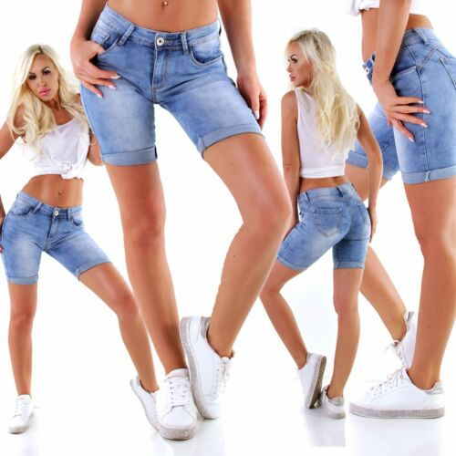 5527 salsiccia Donna Jeans Bermuda Pantaloni Slimfit denim shorts pantaloni corti