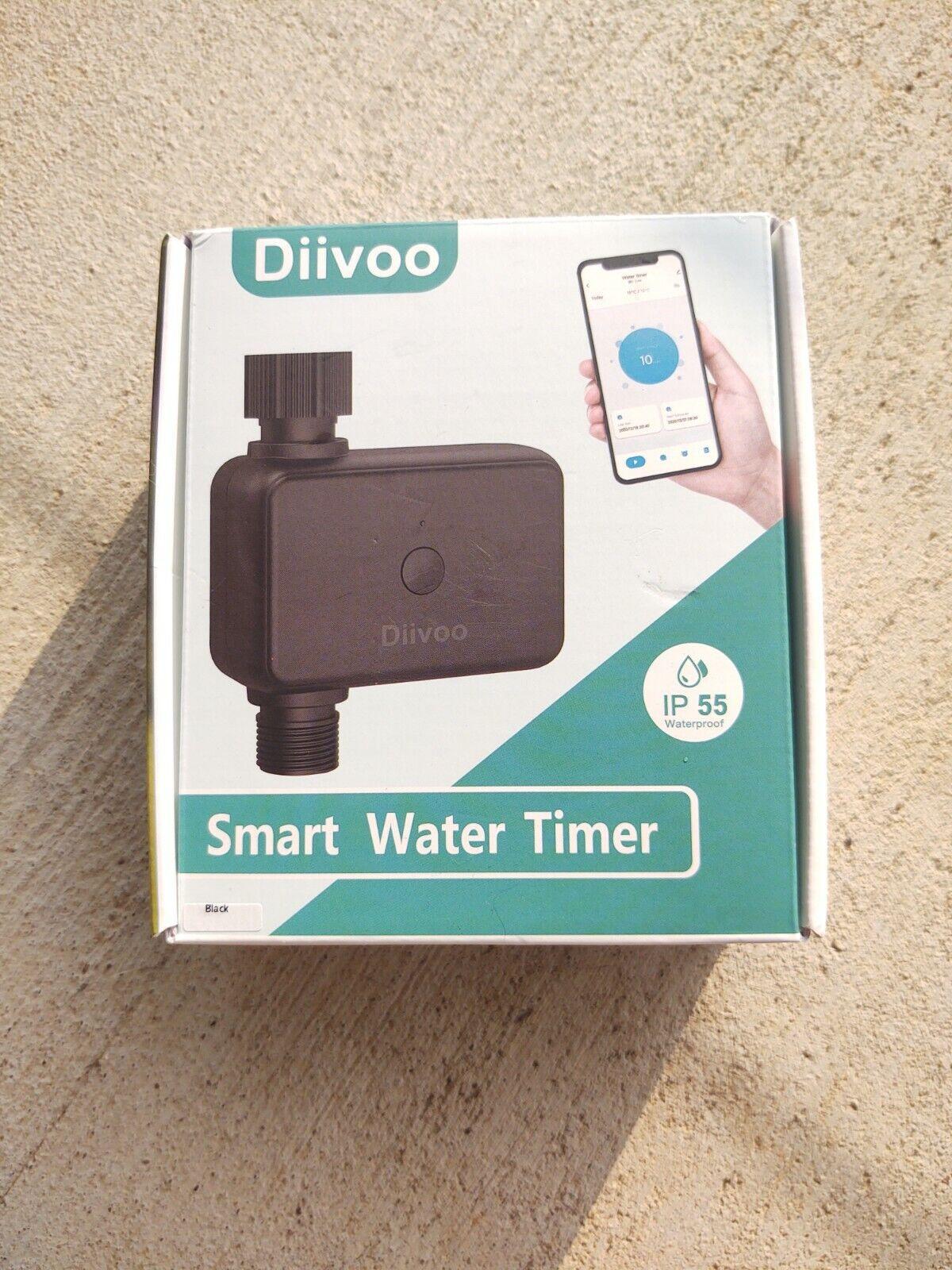 DIIVOO SMART WATER TIMER - Bluetooth Automatic Irrigation Sprinkler Garden