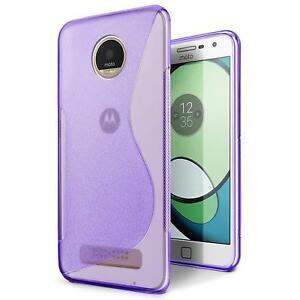 Handy-Huelle-Motorola-Moto-Z-Ultra-Slim-Case-Silikon-Cover-Schutz-Tasche-Lila