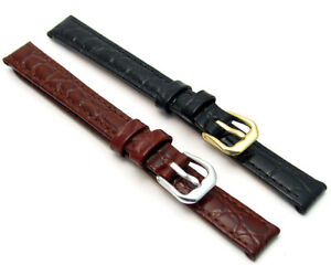 CONDOR-Extra-Long-Padded-Crocodile-Grain-Leather-Watch-Band-119L-12mm-14mm