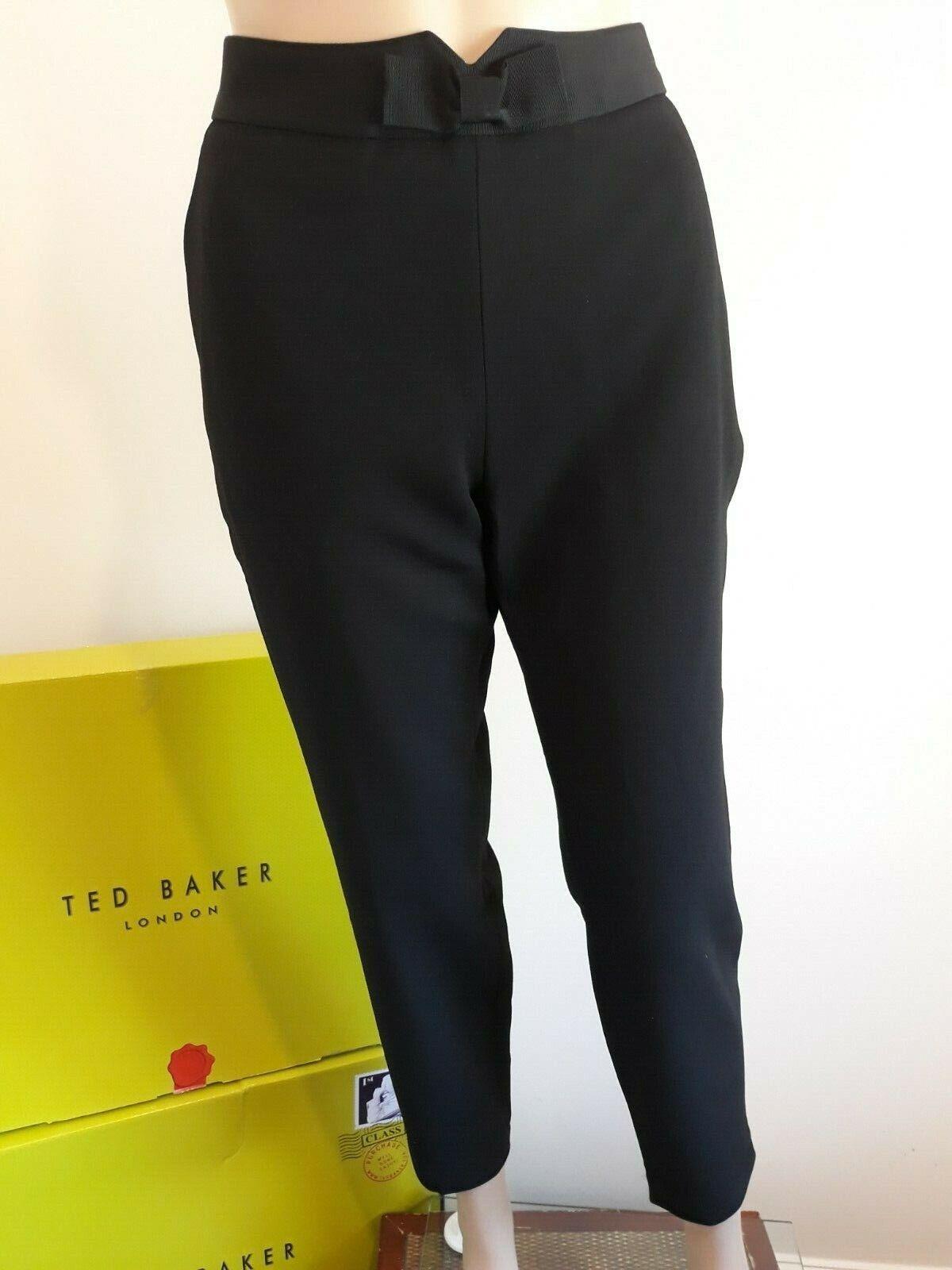 TED BAKER  zeevat  Nœud Noir Sur Mesure Pantalon Bnwt UK 12 Ted 3 USA 8