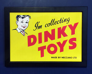 Dinky-Toys-Vintage-1950-039-s-Framed-A4-Size-Poster-Shop-Sign-Leaflet-High-Quality
