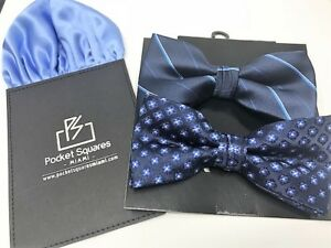 471cbc664f00 Bow Tie And Pocket Square Set 2 Bow Ties Beautiful Matching Mens ...
