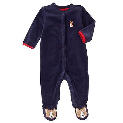 NWT Gymboree Brand New Baby Boy Blue Terry Sleeper One-Piece 0-3 M