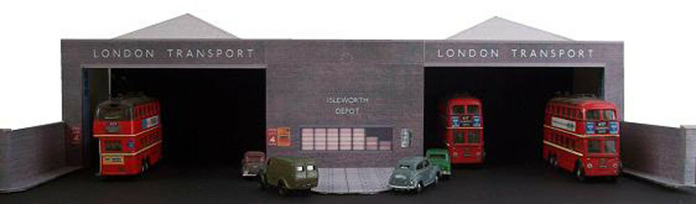 Kingsway, 00 scale, Isleworth London, bus garage, Kit build service.