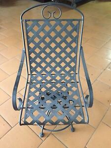 Sedie In Metallo Da Esterno.Sedie In Metallo Da Esterno Con Seduta Girevole Ebay