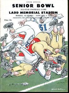 1955 Senior Bowl All Star Football Classic Ex Cond Alan Ameche