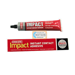 g tube evo stik impact instant contact adhesive multi purpose image is loading 30g tube evo stik impact instant contact adhesive