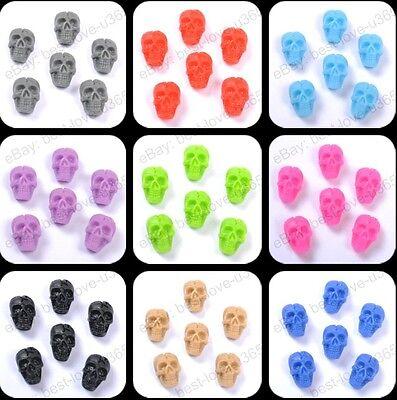 frss ship 20pcs Resin Flower Flatback Cabochons Charms Beads 10colors U PICK