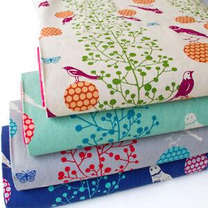 Japanese-Cotton-Linen-Fabric-Canvas-Echino-By-Etsuko-furuya-Bird-by-1-2yard