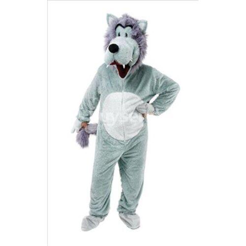 Adulto Big Testa ANIMALE LUPO Mascotte Costume Jumbo onesiee Donna AC937