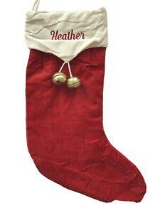 Pottery Barn Velvet Red Holiday Jingle Bell Christmas