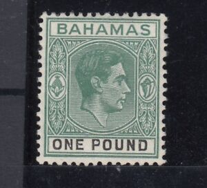 Bahamas-KGVI-1938-1-Green-SG157-MLH-JK2099