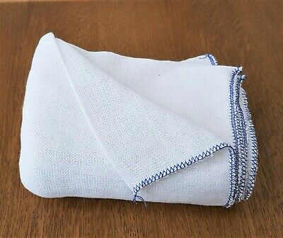 50x33cm 5 10 25x Jumbo Kitchen Cleaning Cotton Dishcloth Large White Absorbent