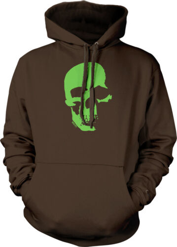Green Neon Skull Skeleton Spooky Halloween Scary Death  Hoodie Pullover