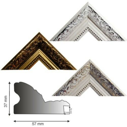 Picture Molding Made of Plastic 469 in 3 Colours 3 4//12ft Length