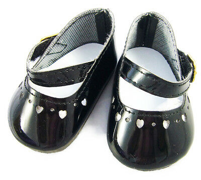 Black Sparkle Mary Jane Shoes Fits 18 inch American Girl Dolls