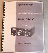 Kenwood TS-660 Instruction Manual - Premium Card Stock Covers & 28 LB Paper!