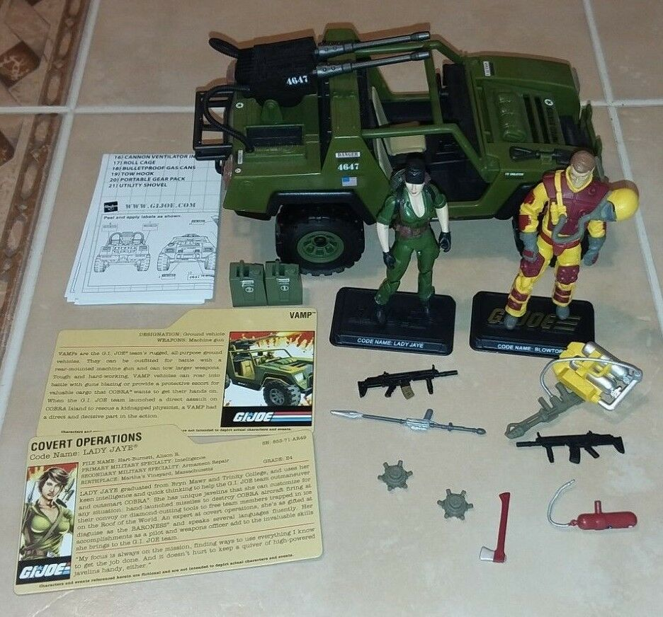 Gi Joe 25th v.a.m.p. Vamp Lady Jaye Soplete cobra 2008