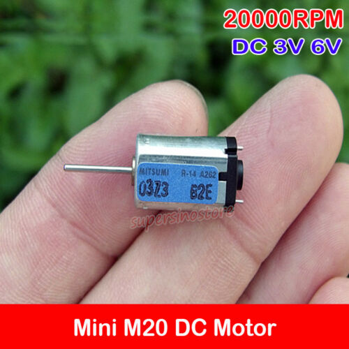 2PCS M20 Motor DC 3V 5V 6V 20000RPM Precious Metal Brush Micro Mini 8*10mm Motor