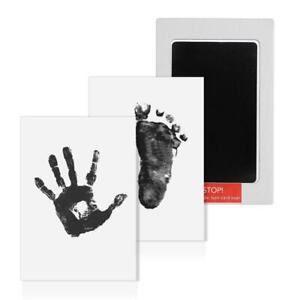 """Baby Fußabdruck Handabdruck Set /""""CleanTouch/"""" Stempelkissen Farbe Maker-Speicher"""