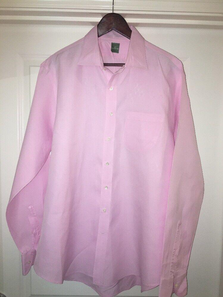 Sid mashburn Solid Pink  dress shirt Extra large 17.5-35 Gently Used