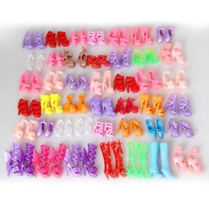 10-Paar-Bunt-Stil-Mischen-Puppe-Schuhe-High-Heels-Sandalen-Barbie-Dress-Up-Toy