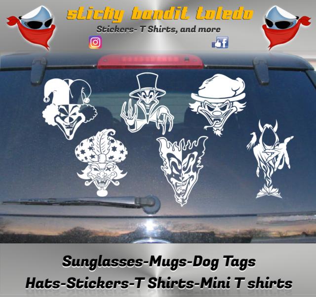 COC DECAL Sticker icp insane clown posse twiztid hallowicked rare JERSEY
