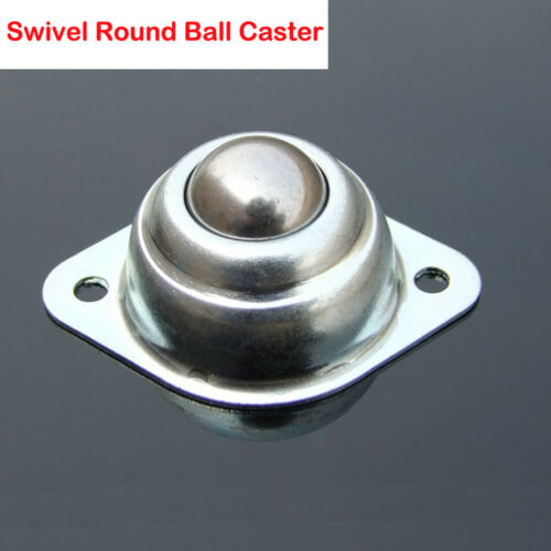 Silver Trolleys Rack Wide Screw Mounted Round Ball Swivel Castor Casters 1-4PCS