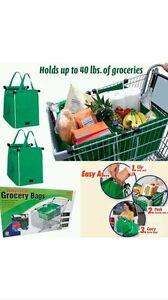 grab bag reusable clip to cart shopping container bag storage ez carry groceries ebay. Black Bedroom Furniture Sets. Home Design Ideas