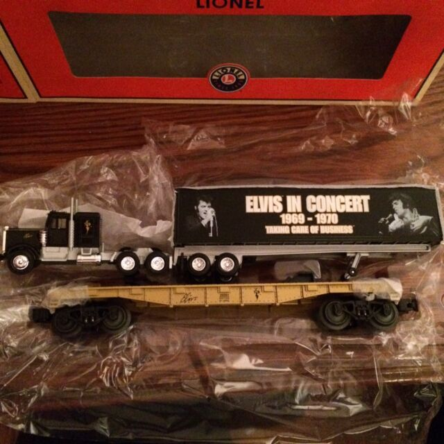 8534a1b70fd Lionel Elvis Flatcar With Concert Tractor Trailer #6-26091 OB
