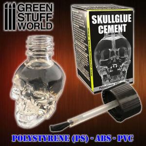 SkullGlue Cement 15ml - for plastics PE, ABS, PVC applicator brush skull shape