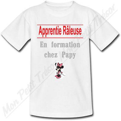 T-shirt Bébé Apprenti Râleuse en formation chez Papy