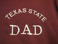 Mens Greg Norman L/s Maroon Shirt With Texas State Dad Embroidered On Front