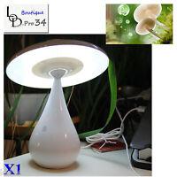 Lampe Champignon Blanc Led Purificateur D'air Anion