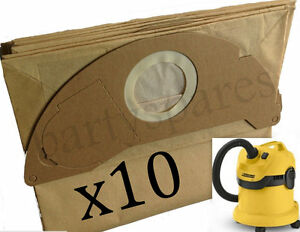 10-x-Strong-Dust-Bags-for-Karcher-WD2-200-MV2-IPX4-WD2240-Vacuum-Cleaner-Hoover