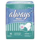 6x Always Maxi Normal Plus With Wings Sanitary Women Comfort Protection Pad 16