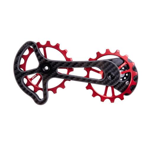 ZTTO Bike Rear Derailleur Cage Pulley Carbon Fiber16T MTB Road Bike Lower Pulley