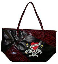 "Ed Hardy Women's""Love Kills Slowly"" Handbag, Large, Red/Black Measures 21""x12""x8"