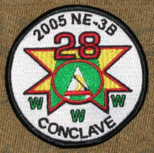 Lodge 28 Half Moon  R5 2005 NE-3B Conclave Pocket Patch  OA  BSA
