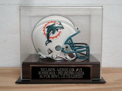 Display Case For Your Nelson Agholor Eagles Autographed Football Mini Helmet Goods Of Every Description Are Available Display Cases