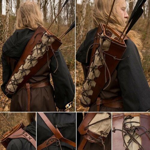 Costume Large Leather and Fabric Imperial Quiver for Stage Re-enactment /& LARP