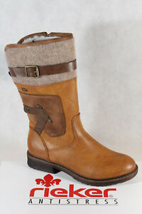 new style 41754 6dbee Details about Rieker Ladies Tex Ankle Boots Winter Boots Brown 94761 New