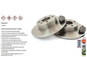 Brake discs Rear brake pads for Mercedes C Class W203 W202 S203 R171