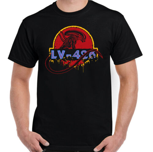 Alien T-Shirt Mens Acheron LV-426 Top Jurassic Park Nostromo Prometheus Covenant