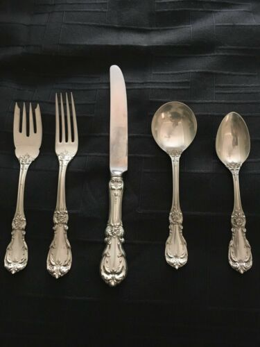 BARTON AND REED BURGUNDY 5 piece Sterling Silver Service for 1
