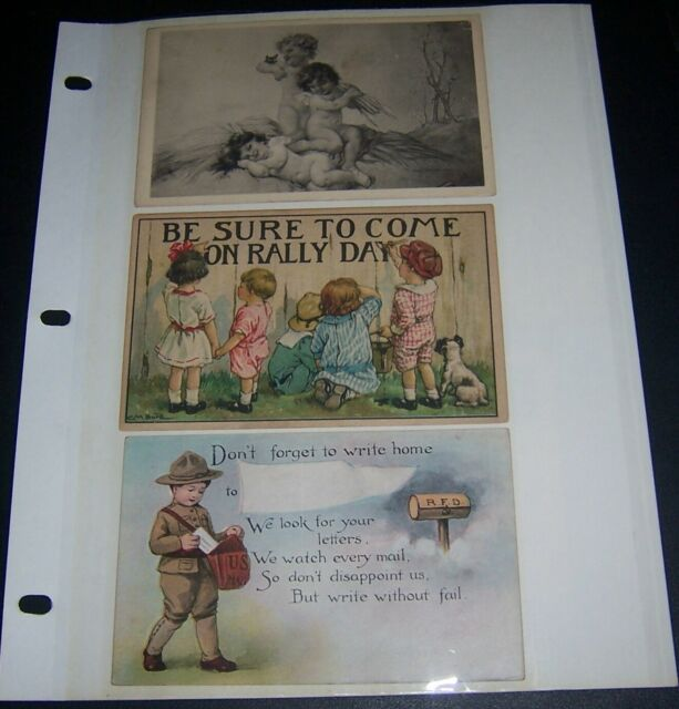 LOT OF 12 EARLY 1900-1920's ANTIQUE NOVELTY POSTCARDS