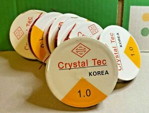 Elastic-Cord-7x-Crystal-Tec-Red-Smooth-Elastic-Thread-1mm-Thick-Crafts-Jewellery