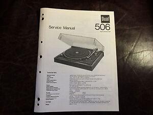 Dual Turntable Original Service Manual Factory Repair Schematic